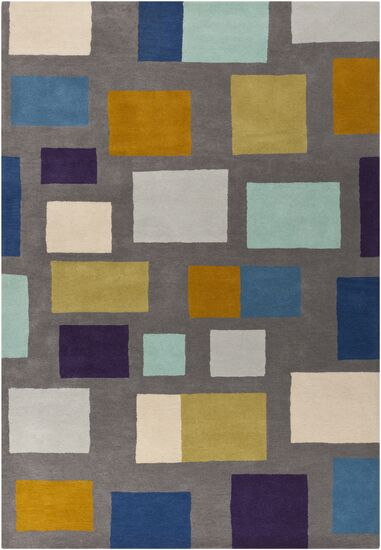 Pewter Hand Woven Wool Gray/Blue/Beige Area Rug Rug Size: Rectangle 8' x 11'
