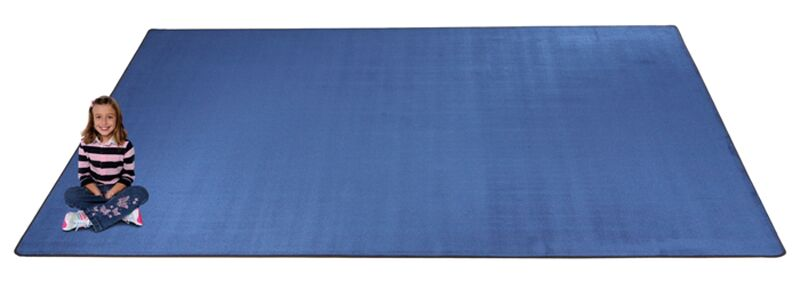 KidTastic Light Blue Area Rug Rug Size: Square 12'