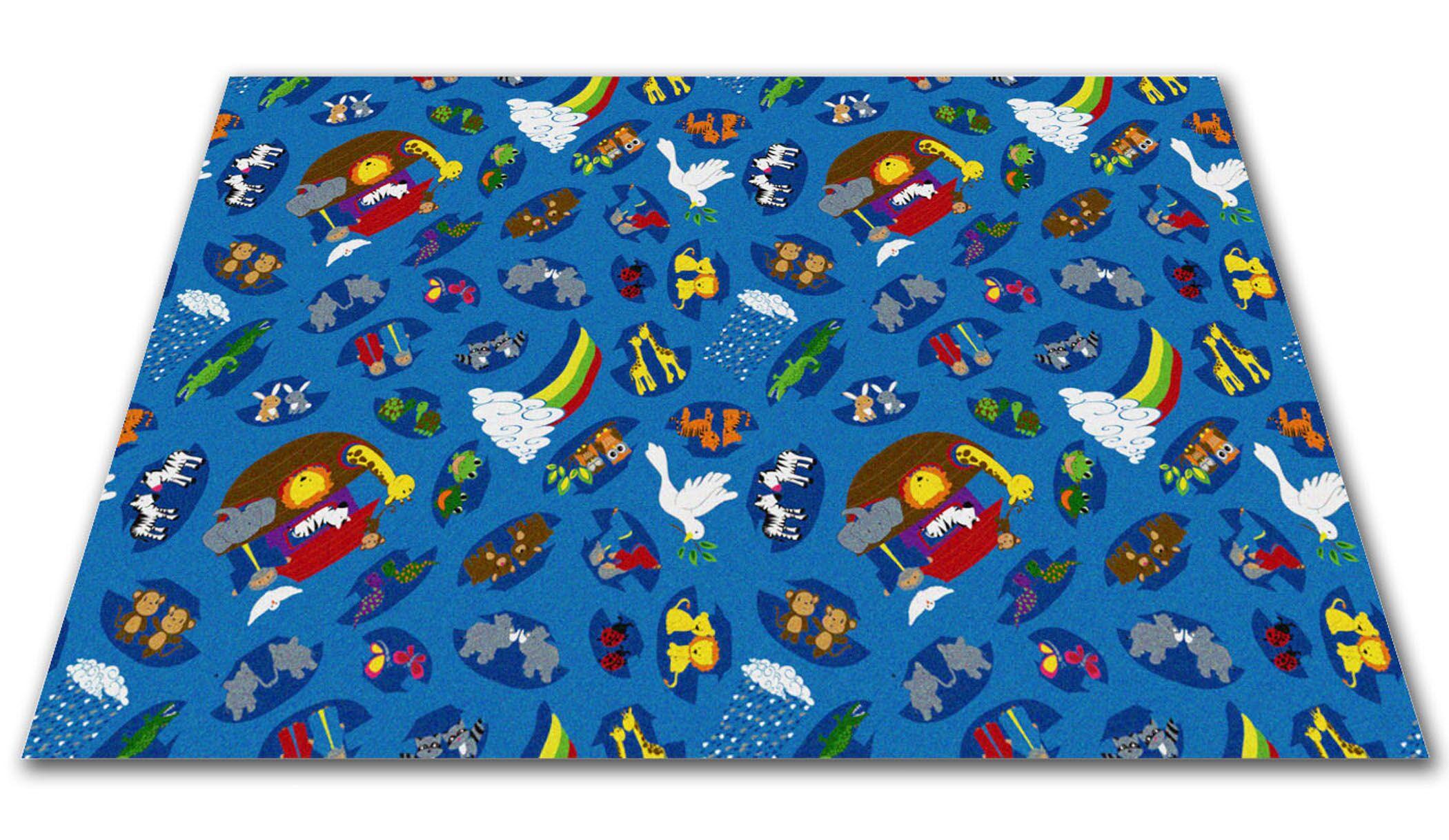 Noah's Animal Friends Area Rug Rug Size: Rectangle 12' x 20'
