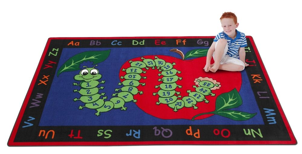 Learn with Inchworm Kids Rug Rug Size: Rectangle 6' x 8'6
