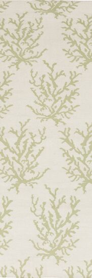 Boardwalk Hand-Woven Wool Lime/Beige Area Rug Rug Size: Rectangle 3'3