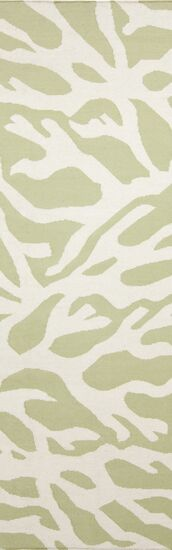 Boardwalk Lime & White Area Rug Rug Size: Rectangle 3'3