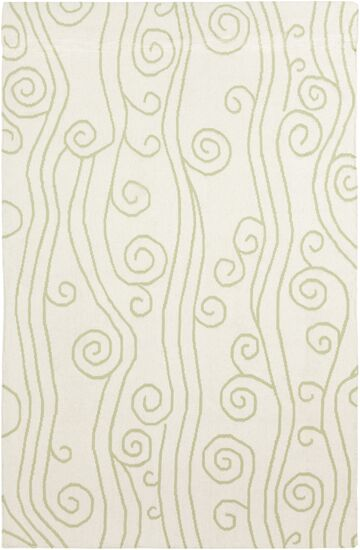 Boardwalk Lime & White Area Rug Rug Size: Rectangle 8' x 11'