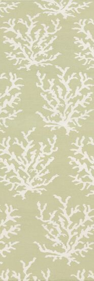 Boardwalk Hand-Woven Wool Lime/White Area Rug Rug Size: Runner 2'6