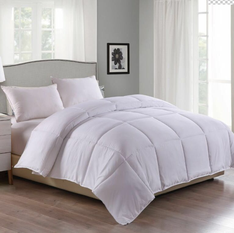 Microfiber Water and Stain Resistant All Season Comforter Size: Full/Queen