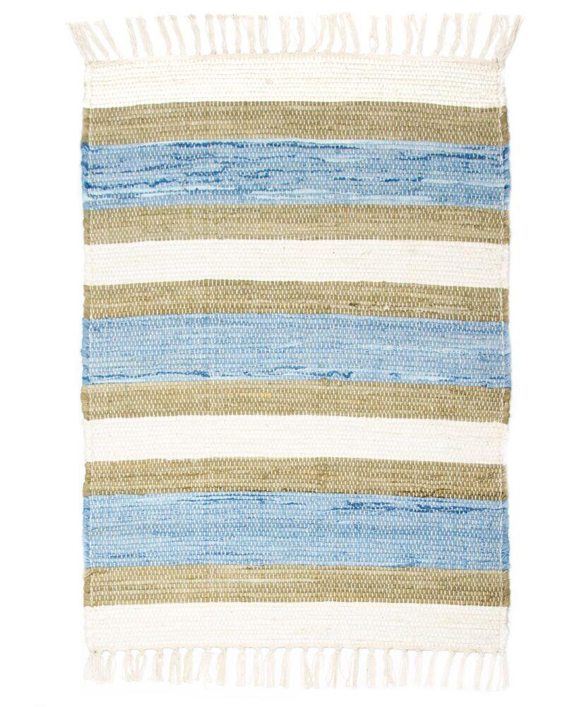 Hampton High Count Hand-Woven Blue Area Rug Rug Size: 2'6