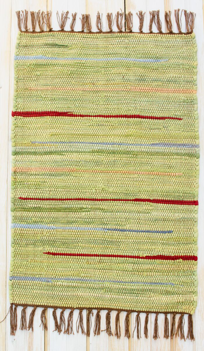 Canyon Green Stripe Area Rug Rug Size: Rectangle 4' x 6'