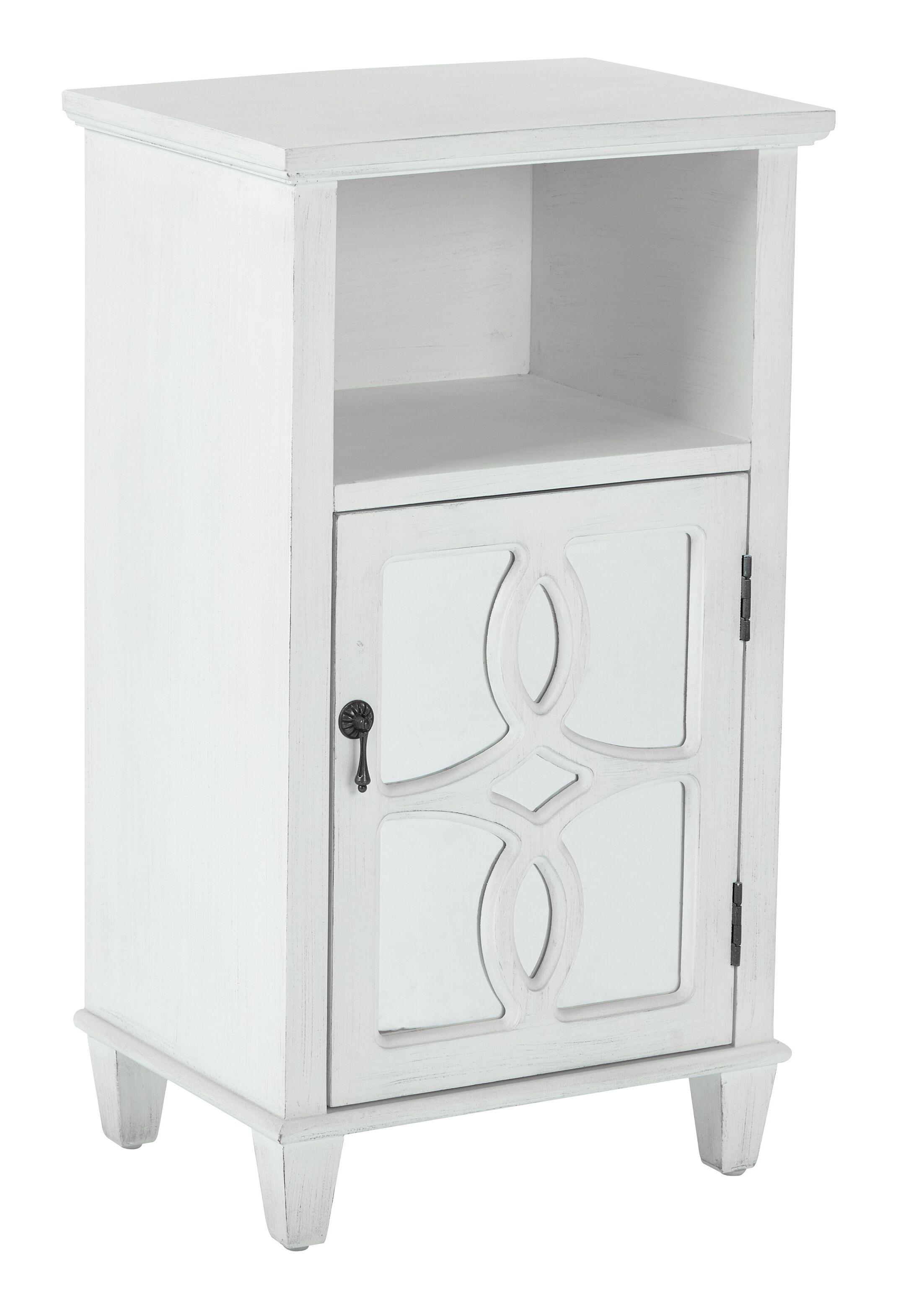 Elba Accent End Table Color: Antique White