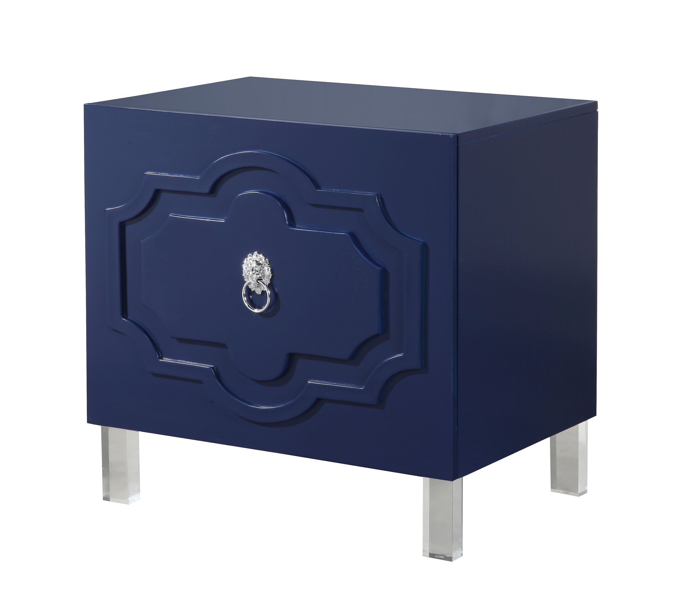 Trinh End Table Color: Navy Blue