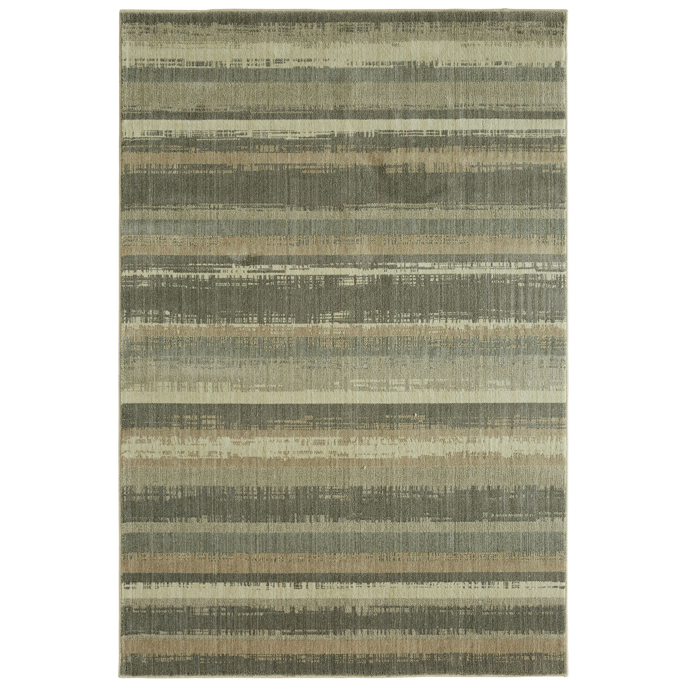 Dar Gray/Beige Area Rug Rug Size: Rectangle 8' x 10'