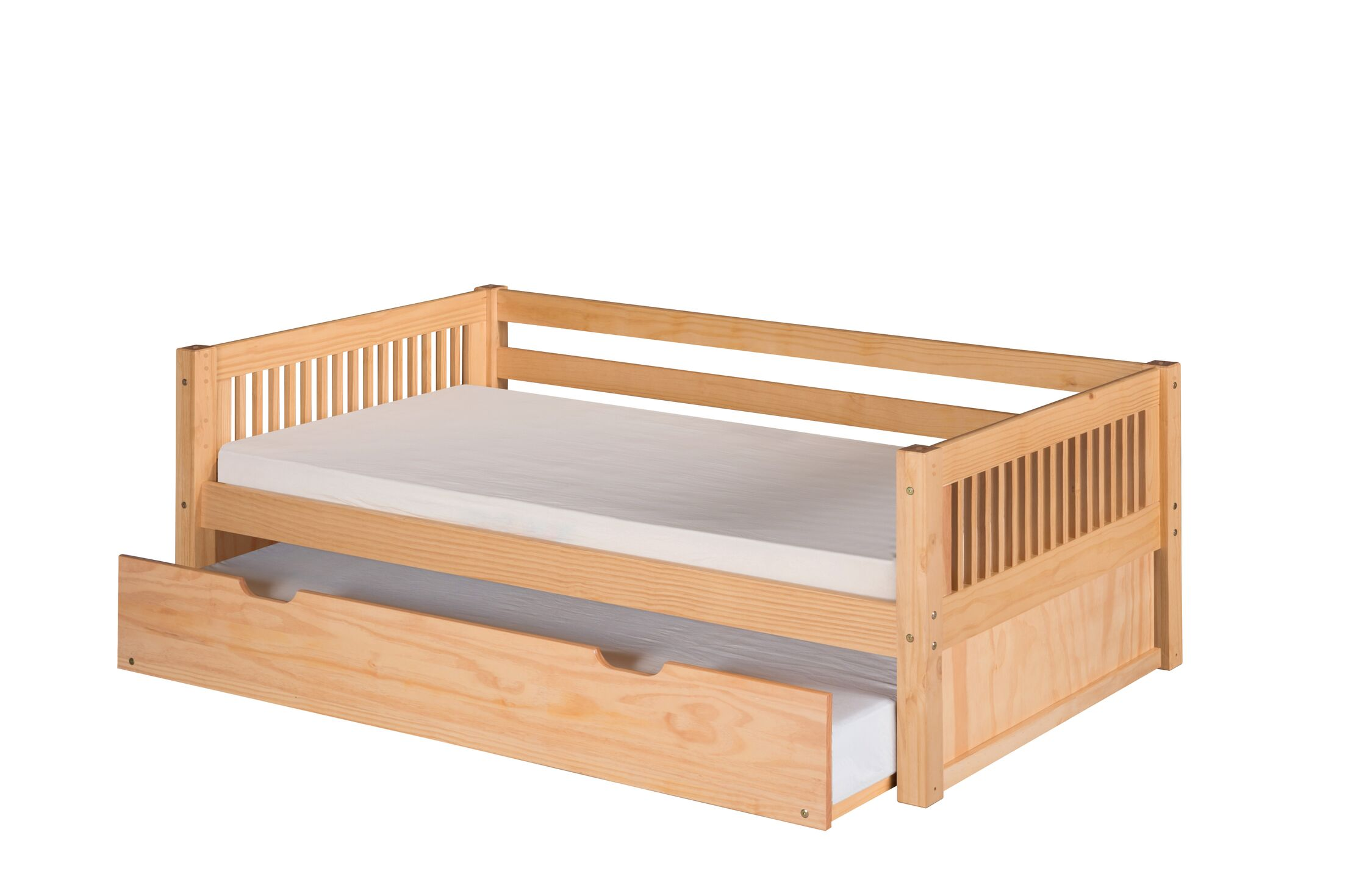 Newfield Daybed with Trundle Color: Natural, Accessories: Trundle Included