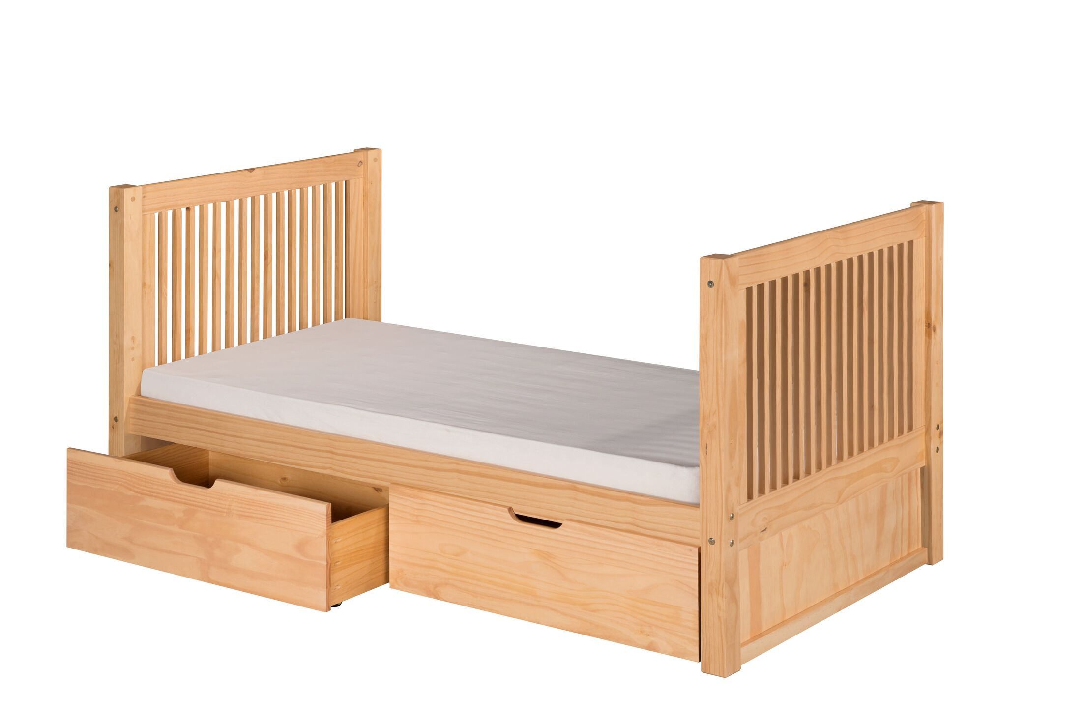 Digennaro Twin Storage Platform Bed Finish: Natural