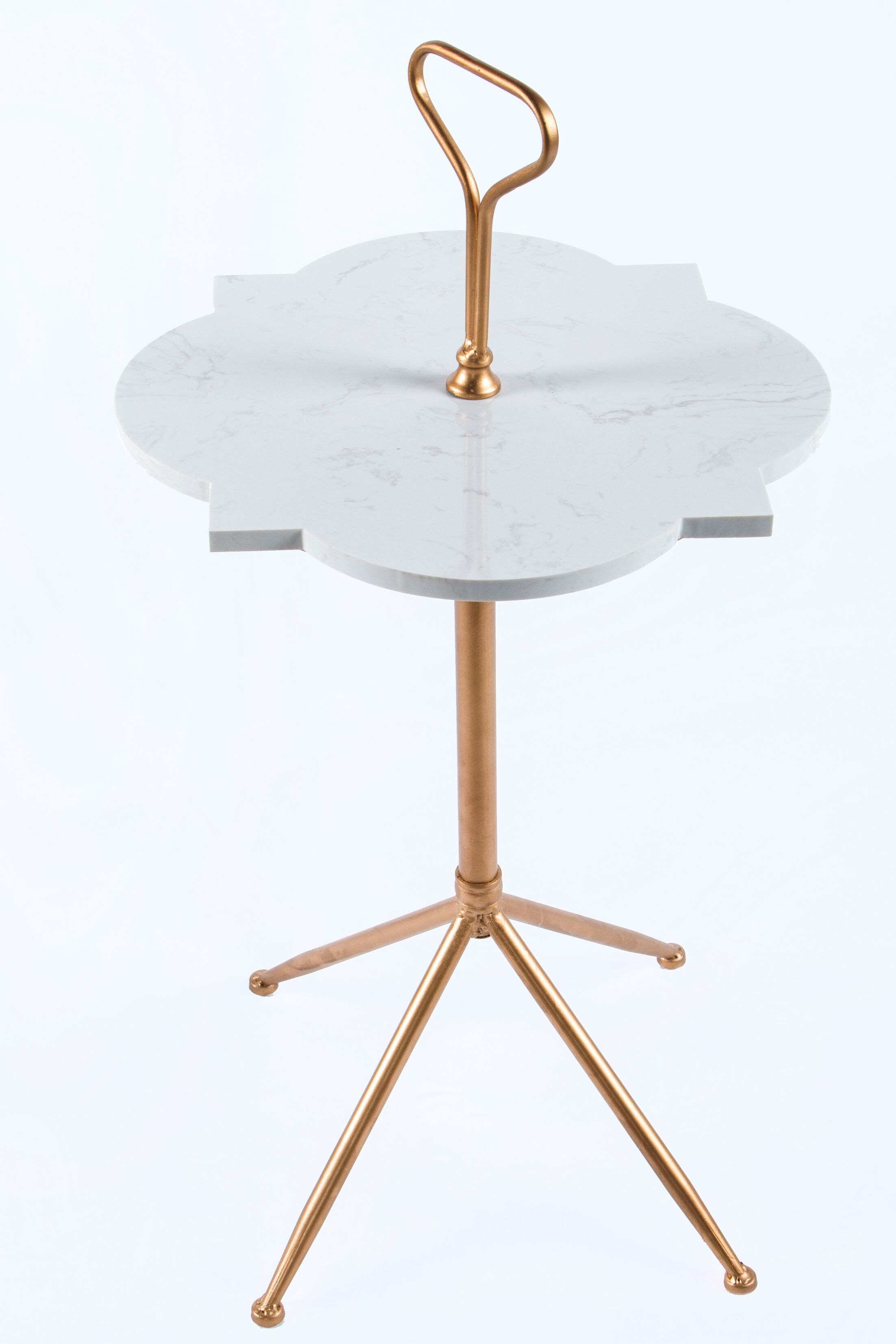 Handle Marble Side Table