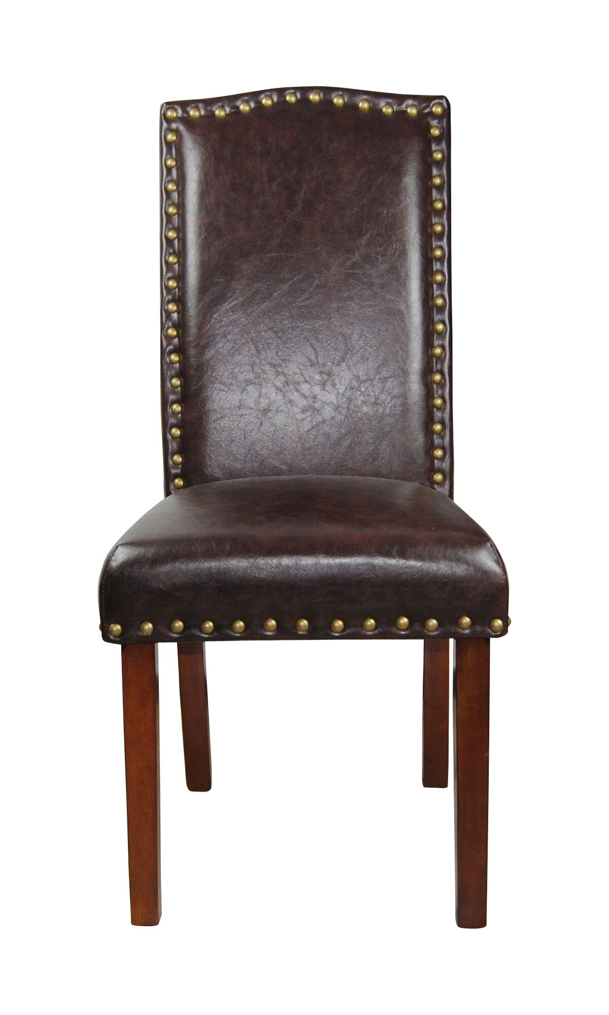 Castilian Leather Upholstered Dining Chair Upholstery Color: Espresso