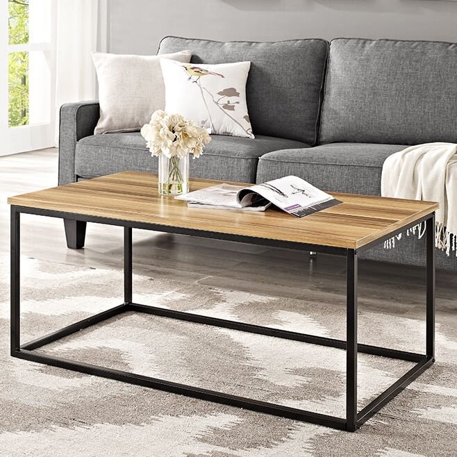 Arianna Coffee Table Table Top Color: Teak