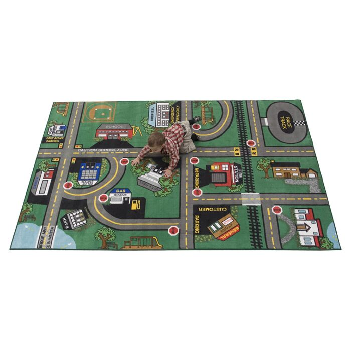 Durable Play Our Town Area Rug Rug Size: 4' x 6'