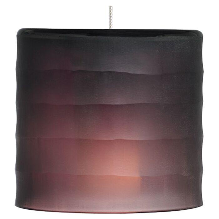 Bali Monopoint 1-Light Drum Pendant Base Finish: Satin Nickel, Shade Color: Amethyst, Bulb Type: Halogen
