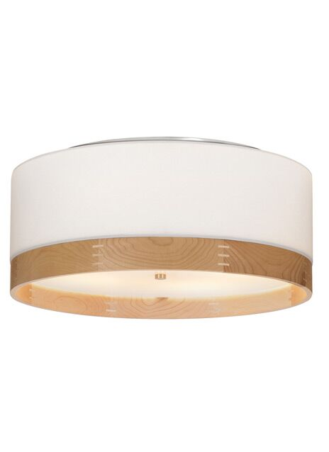 Hobart 4-Light Flush Mount Fixture Finish: Antique Bronze, Shade Color: Heather Gray/Maple Wood