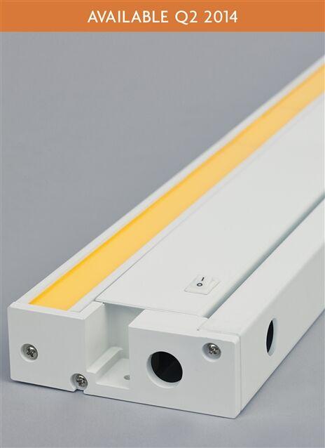 Unilume LED Under Cabinet Bar Light Finish: White, Bulb Color Temperature: 927K, Size: 1.3