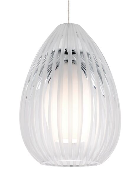 Ava Monopoint 1-Light Cone Pendant Finish: Chrome, Shade Color: Clear