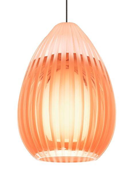 Ava Monopoint 1-Light Cone Pendant Finish: Antique Bronze, Shade Color: Orange