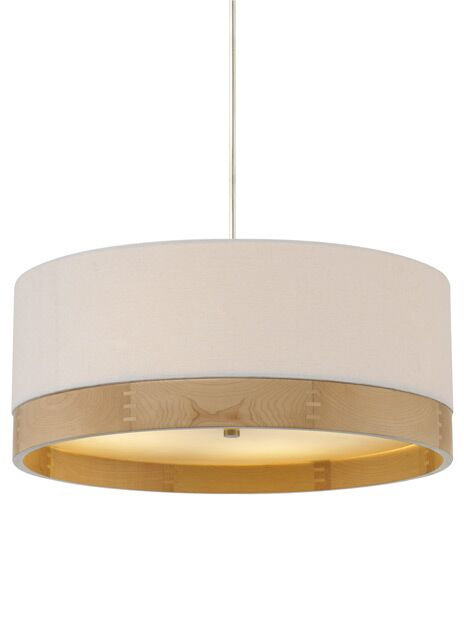 Hogarth Suspension 1-Light Pendant Shade Color: White/Maple, Finish: Polished Nickel