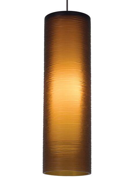 Borrego 1-Light Cylinder Pendant Finish: Antique Bronze, Shade Color: Smoke