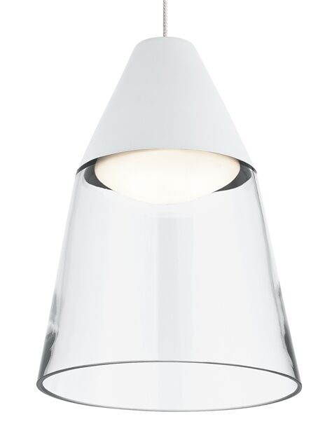 Masque Monopoint 1-Light Cone Pendant Shade Color: Clear/White, Bulb Type: LED
