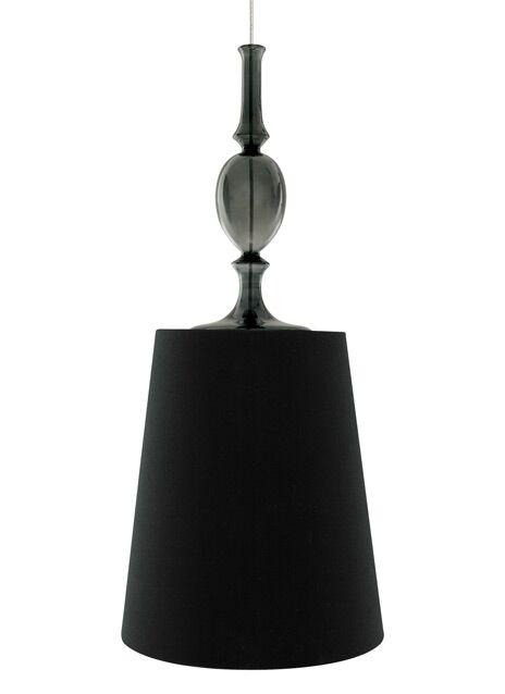 Iliana 1-Light Cone Pendant Shade Color: Black, Bulb Type: Compact Fluorescent, Finish: Antique Bronze