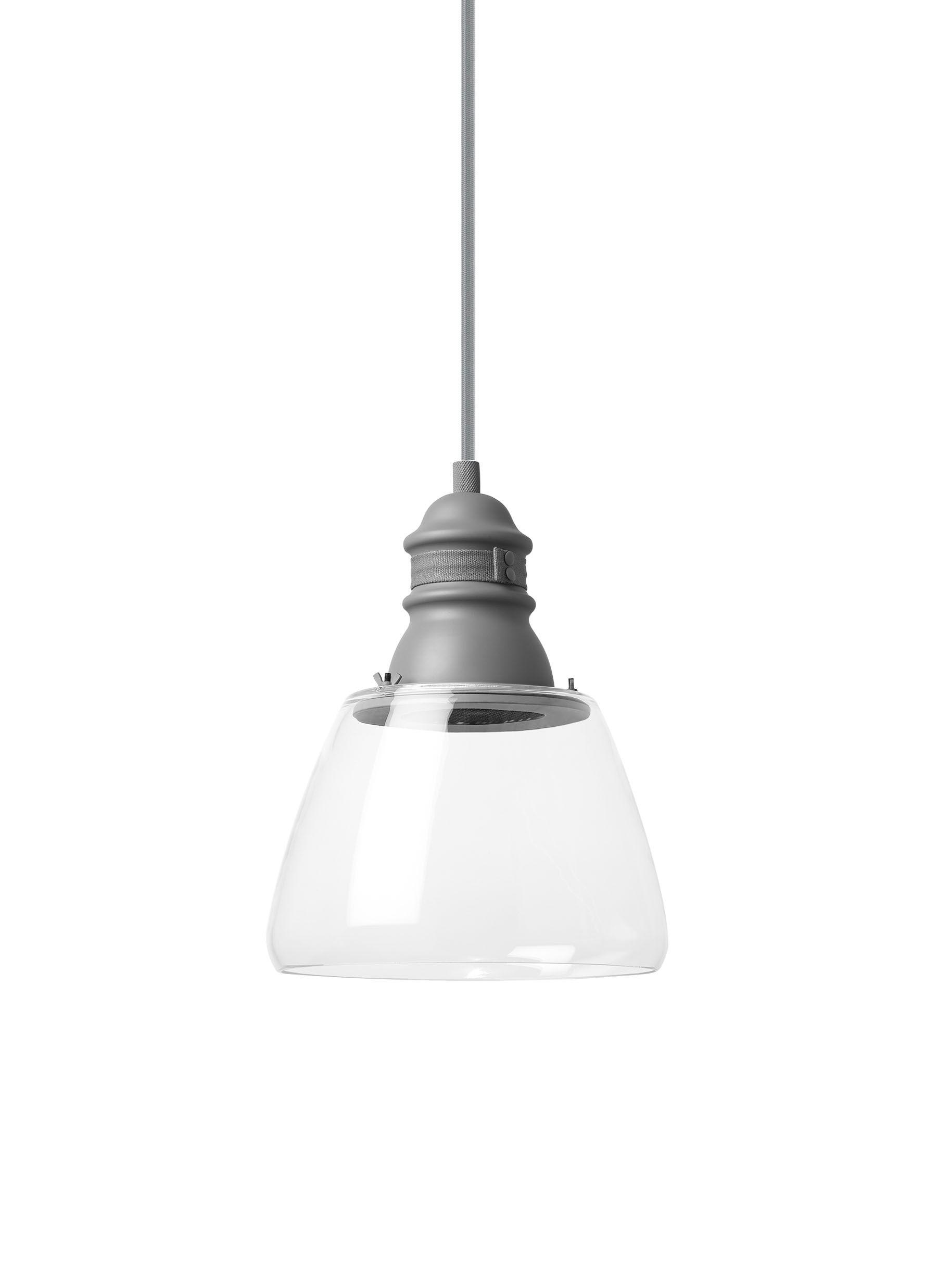 Holton 1-Light Mini Pendant Shade Color: Clear, Bulb Type: LED30, Finish: Gray