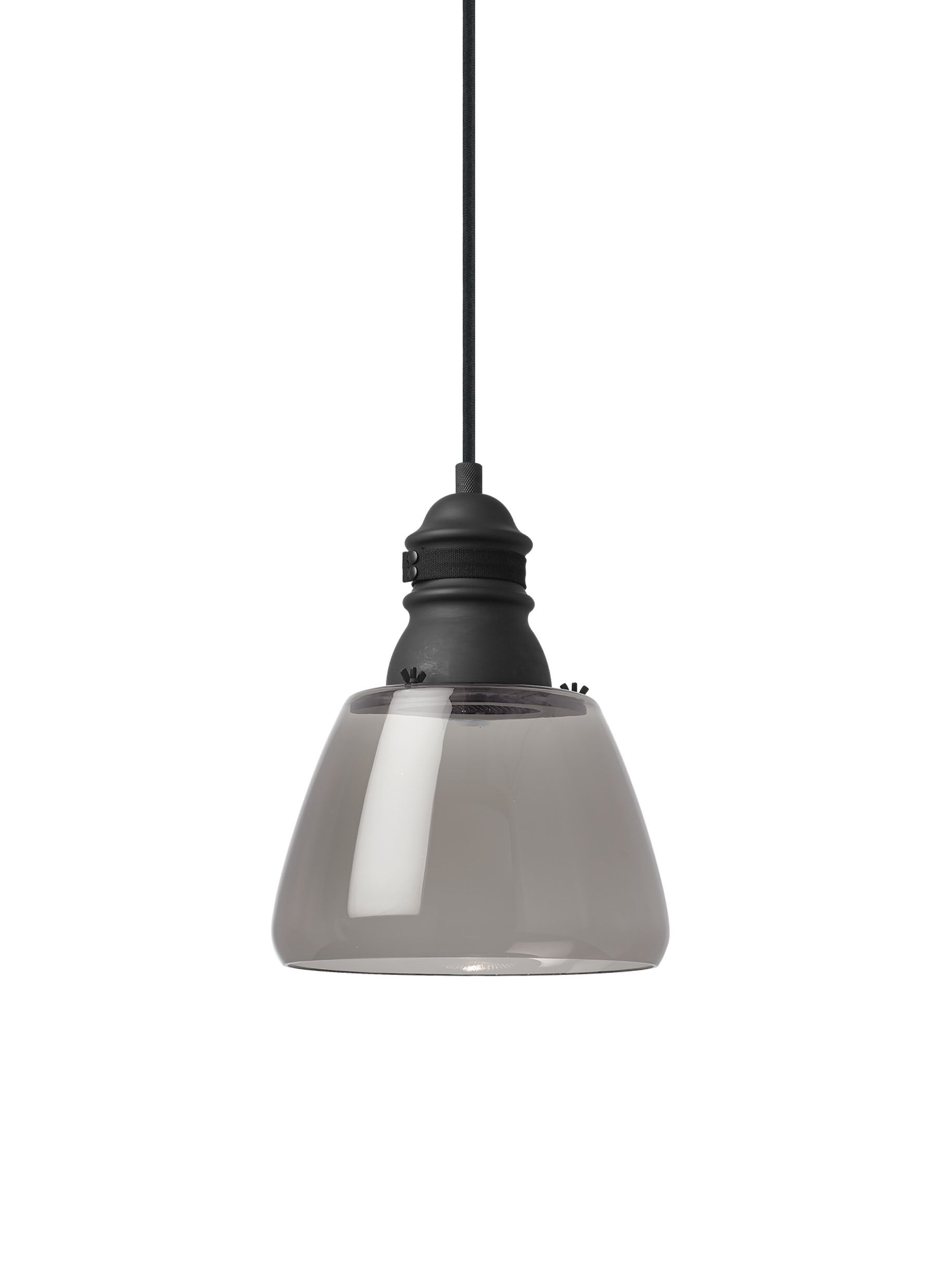 Holton 1-Light Mini Pendant Finish: Black, Shade Color: Clear, Bulb Type: LED30
