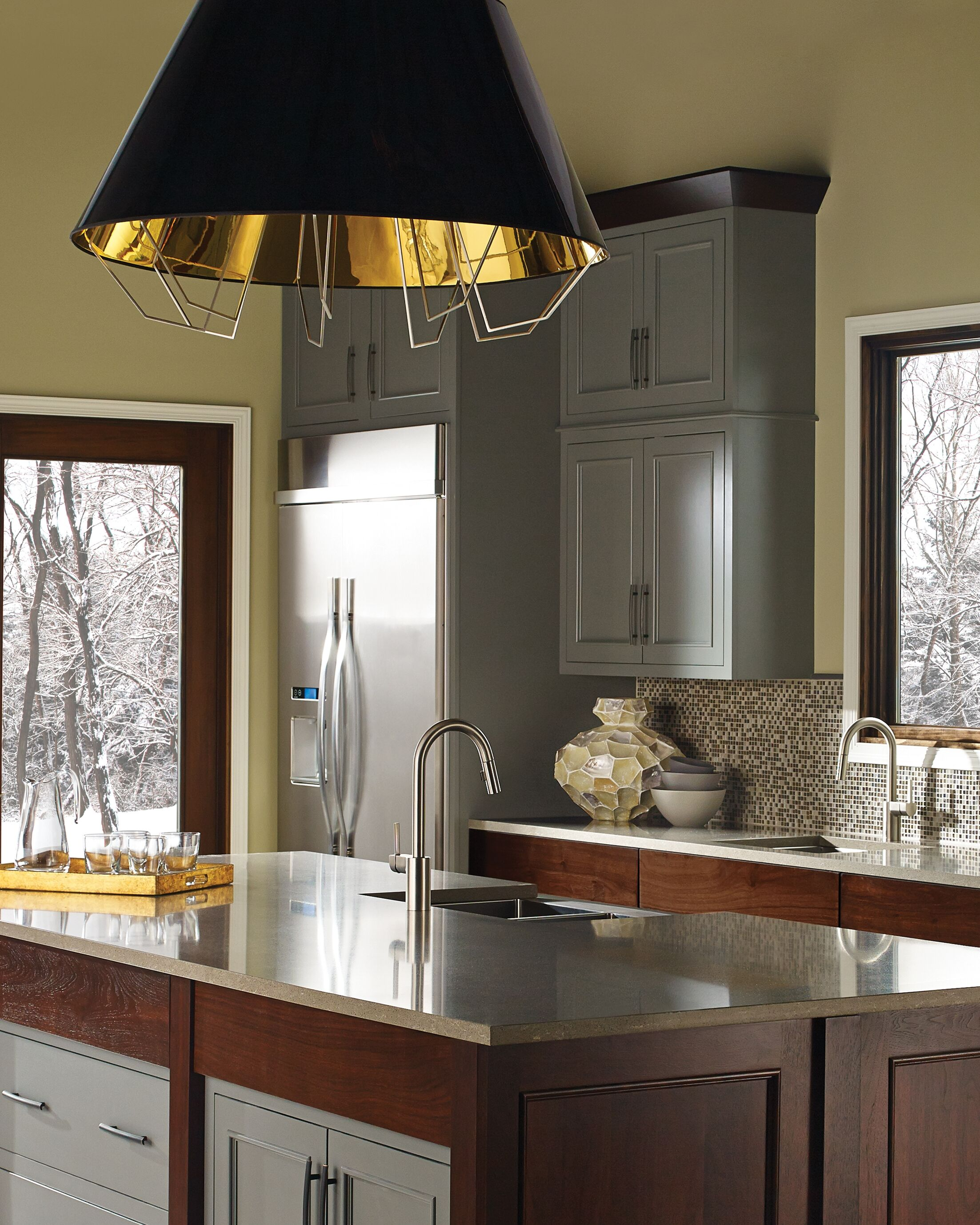 Davila 3-Light Inverted Pendant Shade Color: Black Gold, Bulb Type: Incandescent