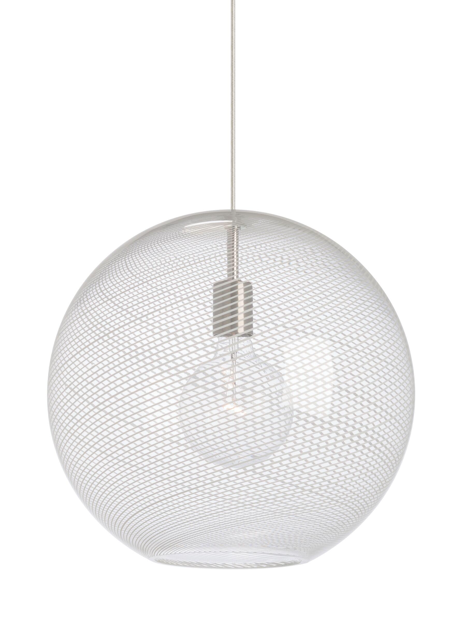 1-Light Pendant Bulb Type: Incandescent