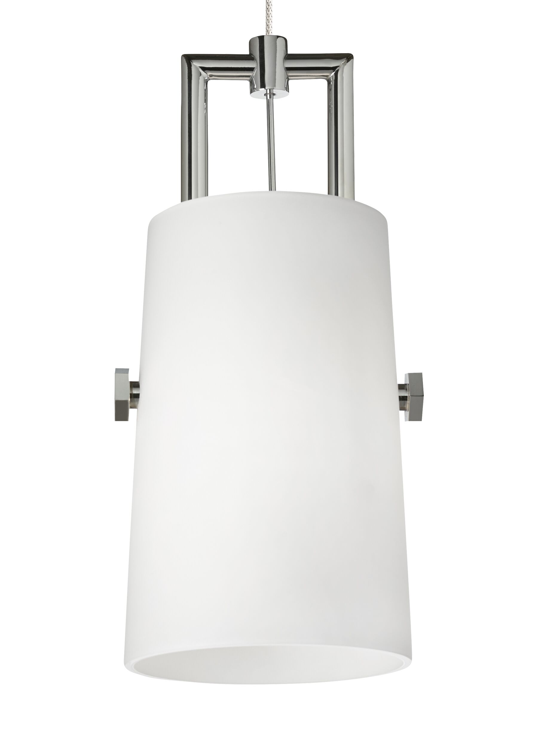 Revere Monopoint 1-Light Cylinder Pendant Finish: Chrome/Chrome, Bulb Type: Incandescent, Shade Color: White