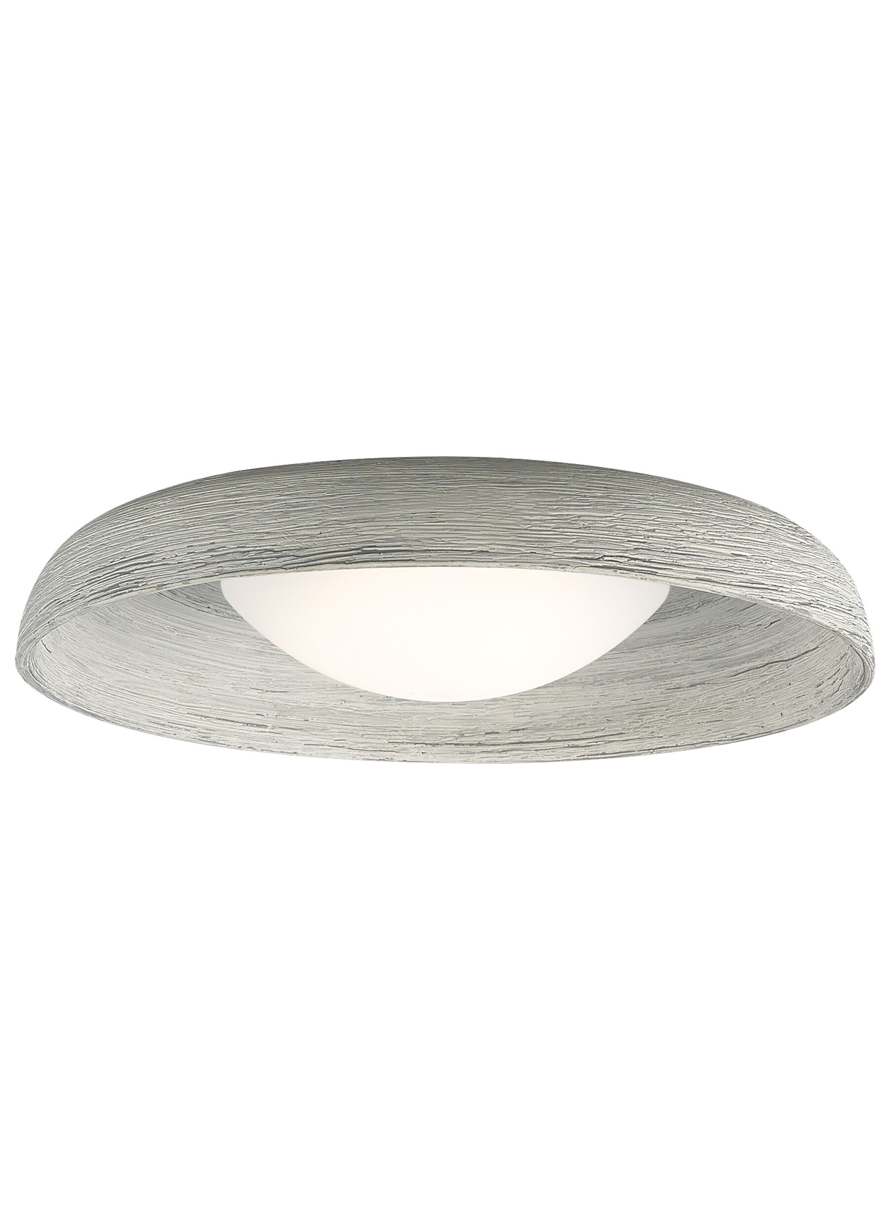 Karam 1-Light Flush Mount Finish: Concrete, Bulb Type: 120V Warm Color Dimming 3000K - 2200K LED
