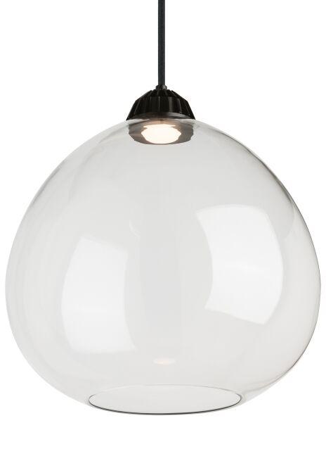 1-Light Pendant Shade Color: Clear, Bulb Type: 90 CRI 3000K 120V LED, Size: 16.80
