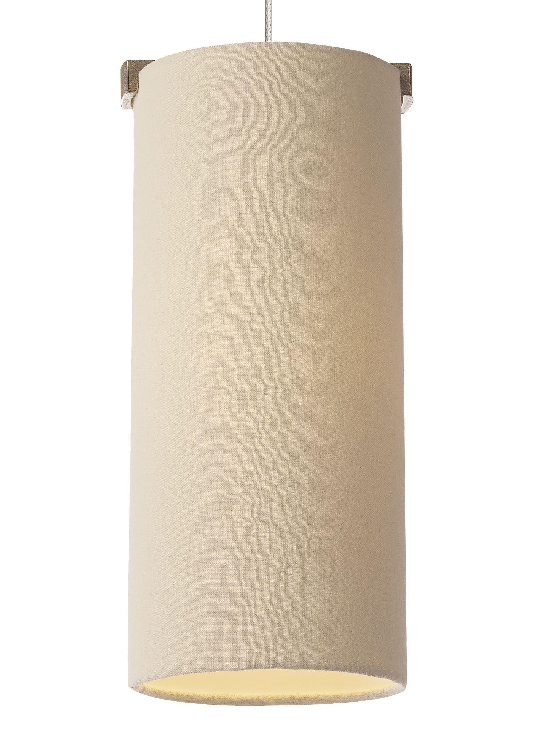 Boreal 1-Light Cylinder Pendant Bulb Type: 90 CRI 3000K LED, Base Finish: Satin Nickel