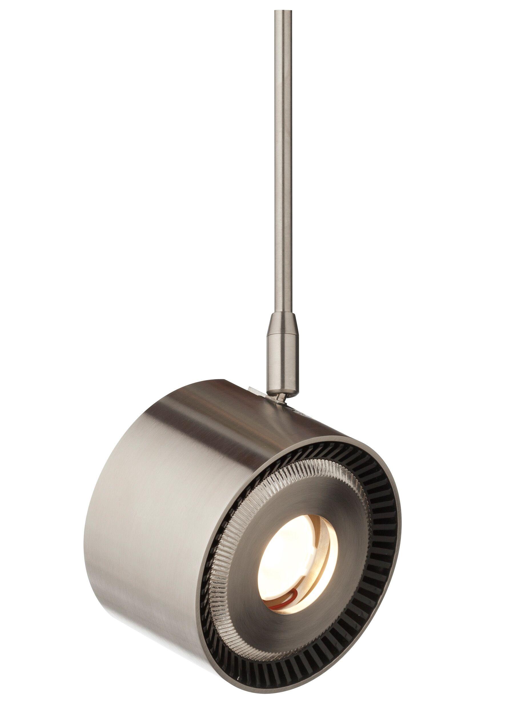 ISO 1-Light Drum Pendant Finish: Satin Nickel, Size: 6