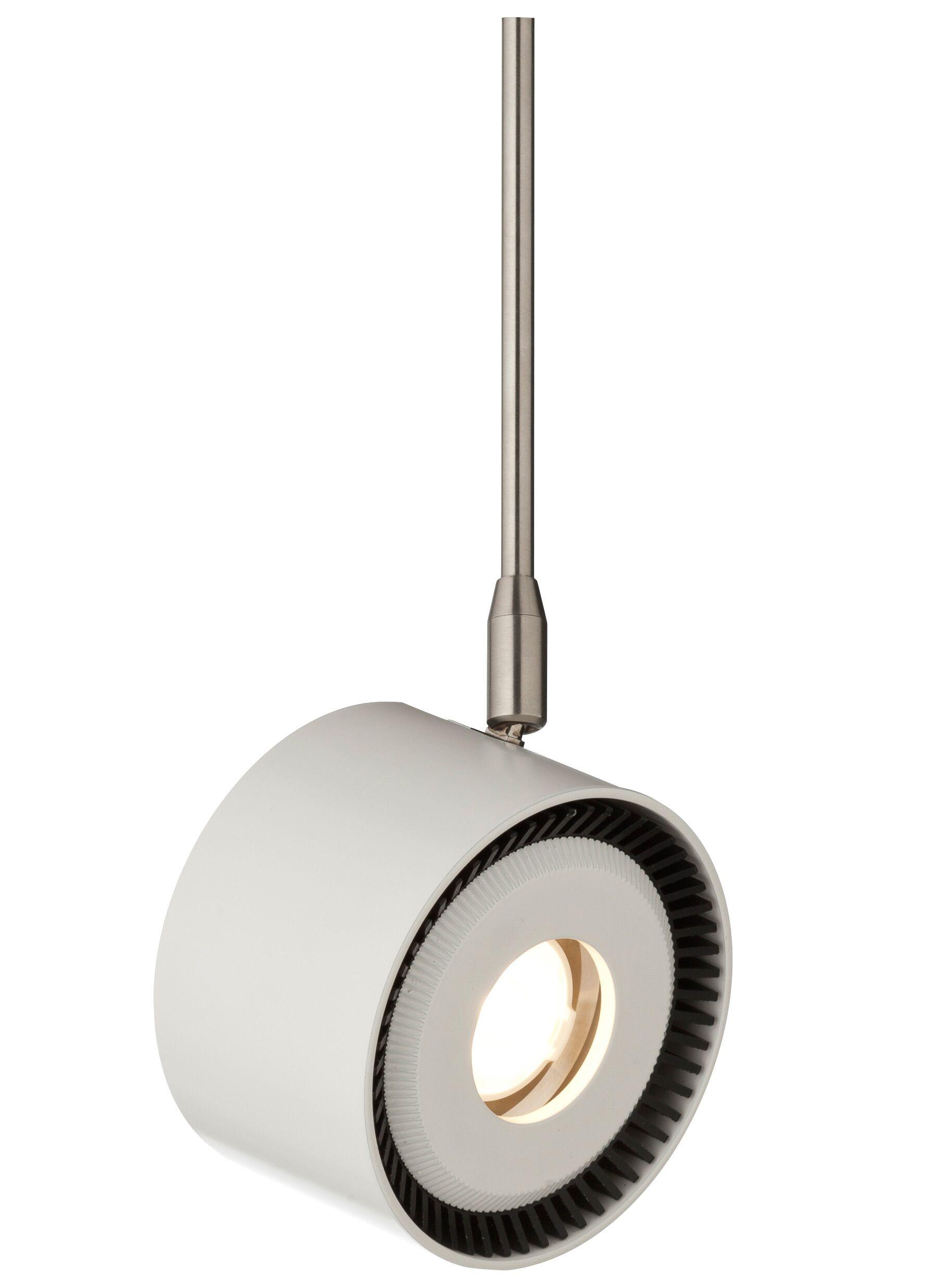 ISO 1-Light Drum Pendant Bulb Color Temperature: 830K, Finish: White, Size: 12