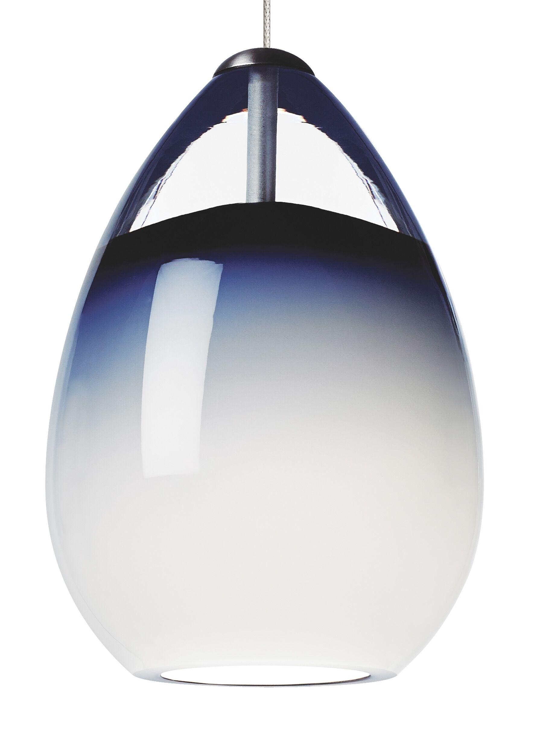 Alina 1 Light Track Pendant Finish: Satin Nickel, Shade Color: Smoke, Mounting Type: Monorail