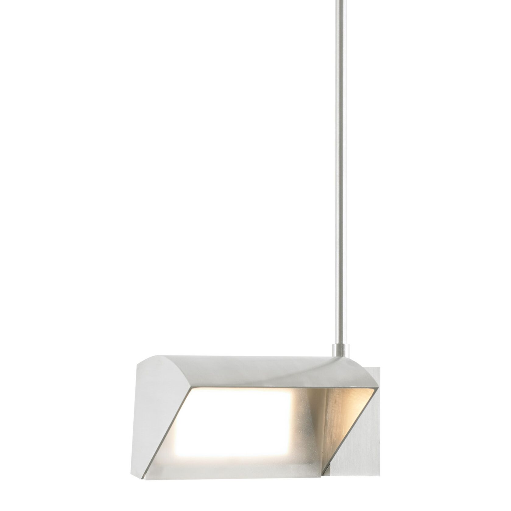 IBISS 1-Light Geometric Pendant Bulb Color Temperature: 3000K, Finish: Antique Bronze, Size: 18
