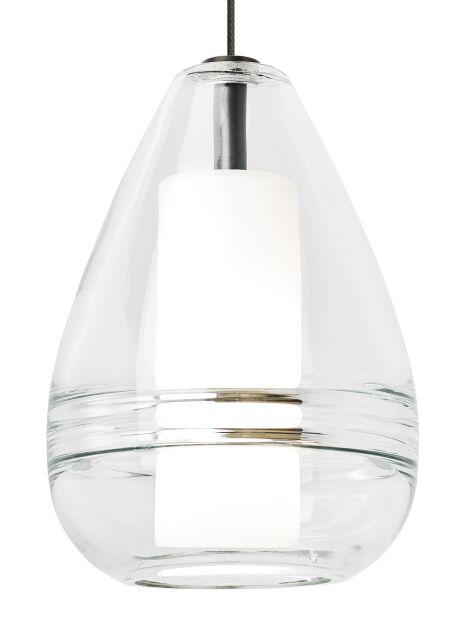Cone Ella 1-Light Pendant Shade Color: Clear, Finish: Antique Bronze, Bulb Type: 90 CRI 3000K LED