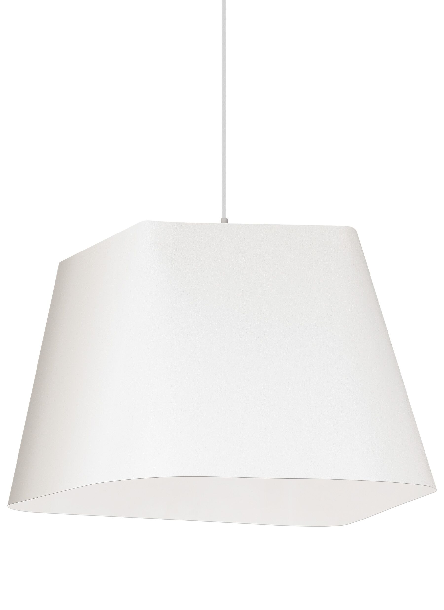 Gorton 1-Light Pendant Shade Color: Textured White/White