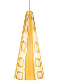 Niko 1-Light Cone Pendant Shade Color: Amber, Bulb Type: 6W LED, Finish: Chrome