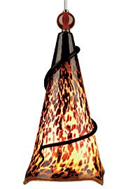 Ovation 1-Light Cone Pendant Finish: Black, Shade: Tortoise Shell, Ball: Clear Ball