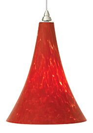Melrose 1-Light Cone Pendant Finish: Satin Nickel, Shade Color: Ferrari Red, Bulb Type: 1 x 18W 120V Fluorescent