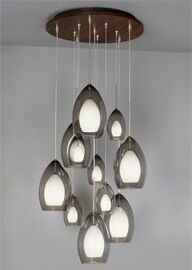 Canopy Shade Color: Antique Bronze, Finish: Maple, Bulb Type: Halogen