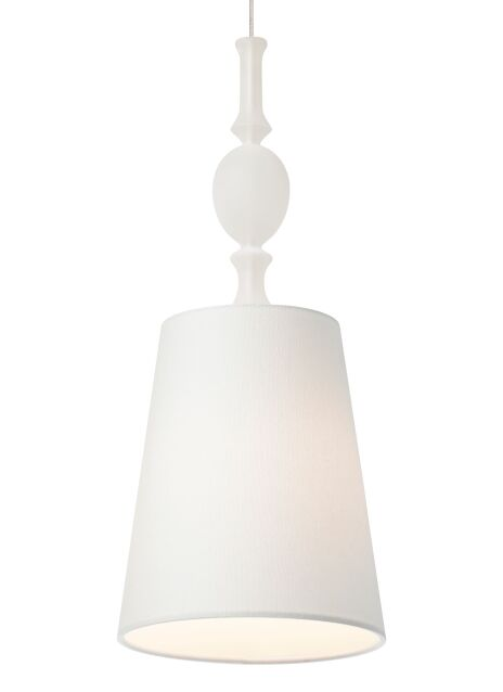 Iliana 1-Light Cone Pendant Finish: Antique Bronze, Shade: White Shade with Frost Fount, Bulb Type: 1 x 8W LED