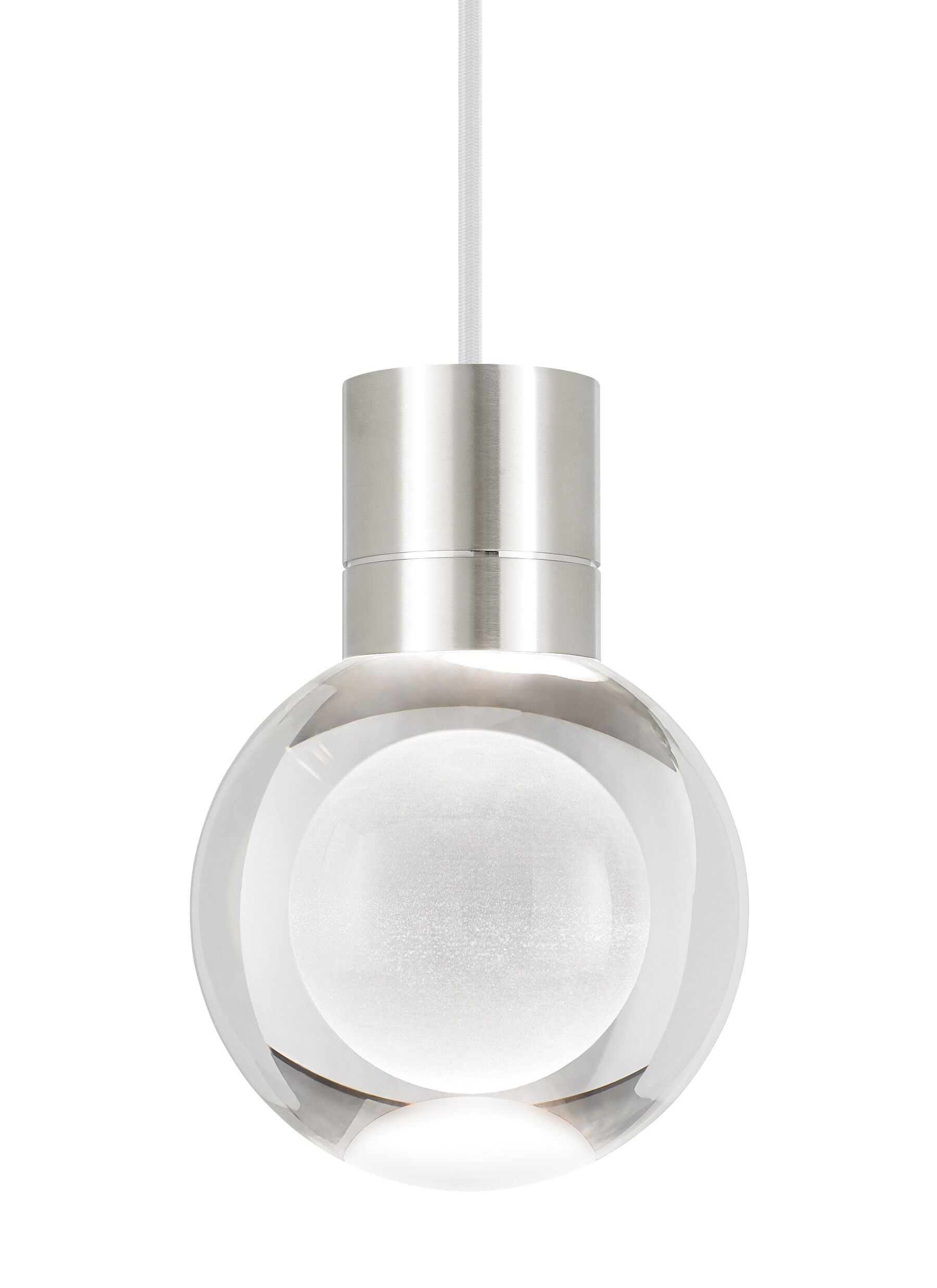 Pipkins 1-Light Globe Pendant Finish: Satin Nickel