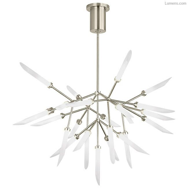 Herlev 25-Light  LED  Chandelier Finish: Satin Nickel